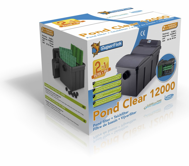 SF PONDCLEAR 12000 UVC-13W plus pompe pontec 8000l/h SUPERFISH