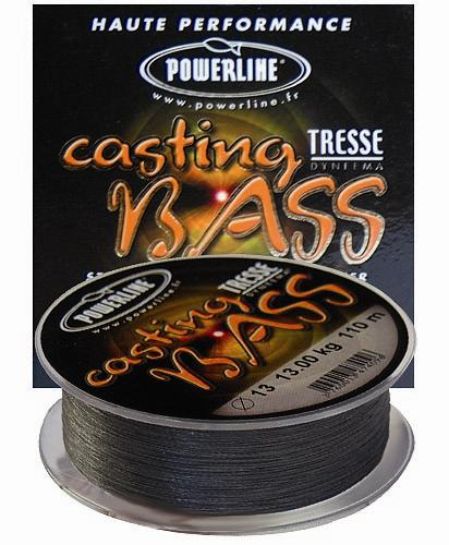 TRESSE CASTING BASS NOIRE 110M 0.11MM 10kg NPC Powerline