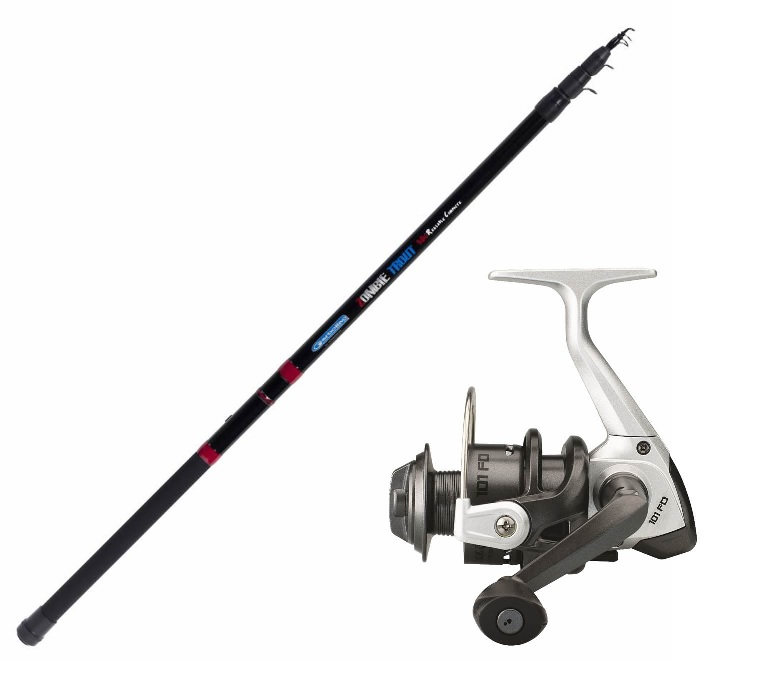 ENSEMBLE ZOMBIE RC 3M80 + MOULINET BLACK TROUT 1000 Garbolino